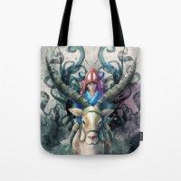 Ashitaka Demon Watercolo… Tote Bag