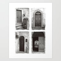 Doors of Rome Art Print