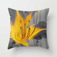 A Bit of Yellow Throw Pillow