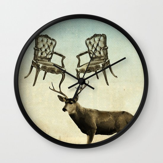 louis xv stag chairs Wall Clock