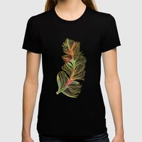 Feather Womens Fitted Tee Black SMALL