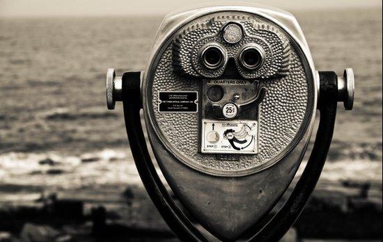 Beach Binoculars Canvas Print