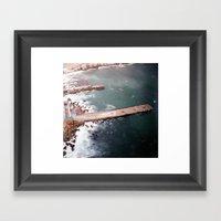 Cold Dark Sea Framed Art Print