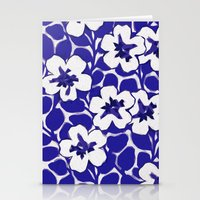 Painted Floral (Blue) Stationery Cards