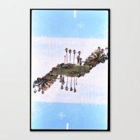 Landscapes c2 (35mm Double Exposure) Canvas Print