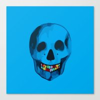 The humorous death  Canvas Print
