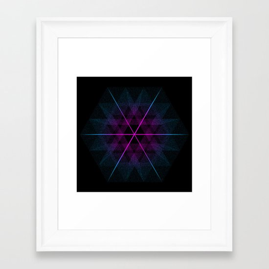 Geode Framed Art Print