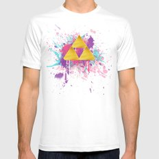 Splash Triforce Mens Fitted Tee White SMALL