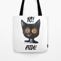 Pizza Cat Tote Bag