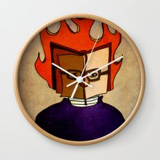 Prophets of Fiction - Ray Bradbury /Fahrenheit 451 Wall Clock