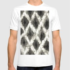 Ikat3 White SMALL Mens Fitted Tee