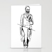 MENBEARD VS MENRAPPEUR Stationery Cards