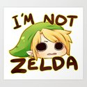 Link is not Zelda Art Print
