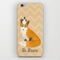 Be Brave - Fox Native iPhone & iPod Skin