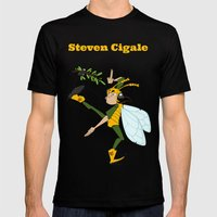 Steven Cigale Mens Fitted Tee Black SMALL