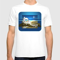 The Bright Morning Star Mens Fitted Tee White SMALL