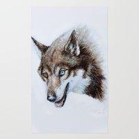 Heterocromia Wolf Rug