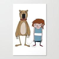 Pet Bear Canvas Print