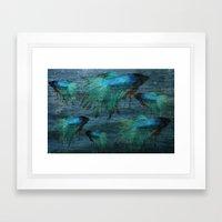 Blue Beta Test Framed Art Print