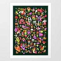 Schema 16 Art Print