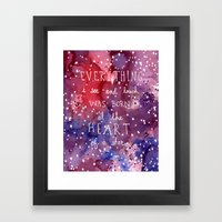 born at the heart of a star Framed Art Print