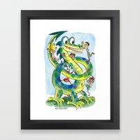 The Dragon Pretzel Conundrum Framed Art Print