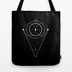 Orb Geometry black Tote Bag