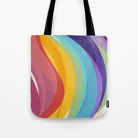 Fig. 045 Colorful Swirls Tote Bag