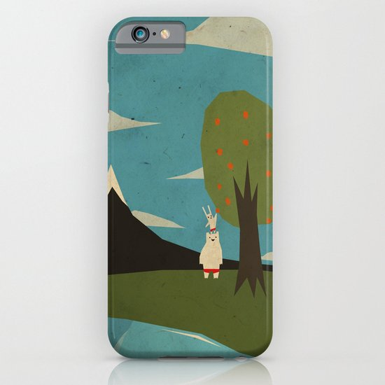 Yeti hearts bunny iPhone & iPod Case