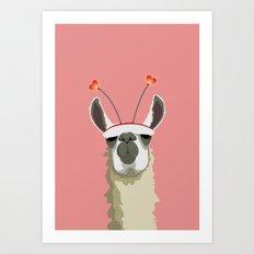 Llove You Art Print