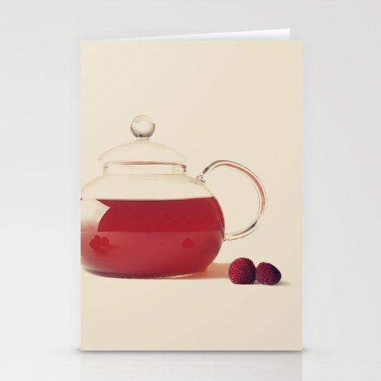 Raspberry Tea (Retro and Vintage Still Life Photography) Stationery Card