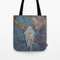 Steer Skull Tote Bag