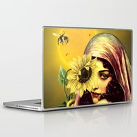 sunflower Laptop & iPad Skins featuring SUNFLOWER by Julia Lillard Art