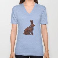Zig Zag Rabbit Unisex V-Neck