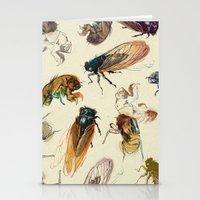 summer cicadas Stationery Cards