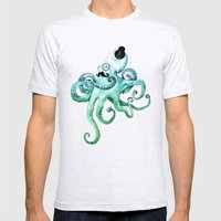 Monocle Octopus Mens Fitted Tee Ash Grey SMALL