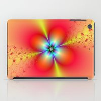 Floral Sprays in Red and Yellow iPad Case