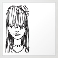 Monday face... Art Print