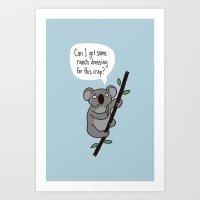 Koala Question Art Print