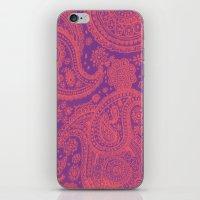 Purple Paisley iPhone & iPod Skin