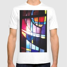 Stained Beauty White Mens Fitted Tee SMALL