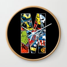Classic comic heroes Wall Clock
