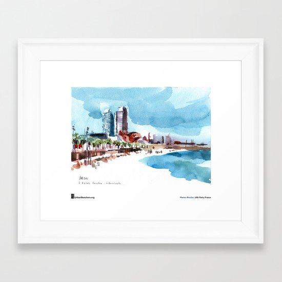 """Marion Rivolier, """"Barceloneta"""" Framed Art Print"""