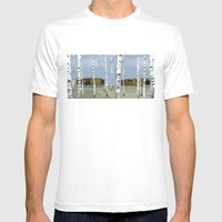 Wood Pavilion Mens Fitted Tee White SMALL
