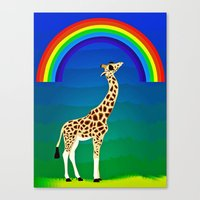 Giraffe With Swag Canvas Print