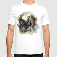 InkyFil Mens Fitted Tee White SMALL