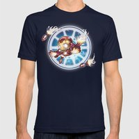 Lil' Iron Dude Mens Fitted Tee Navy SMALL