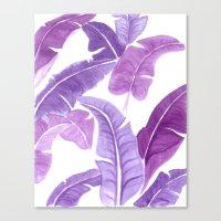 Purple Palms Canvas Print