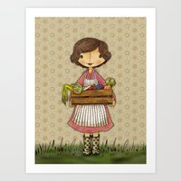 Anna the Farmer Art Print