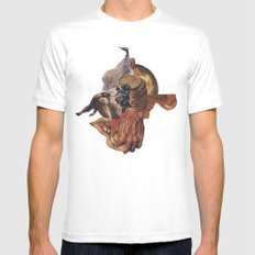 Blind Exodus White Mens Fitted Tee SMALL